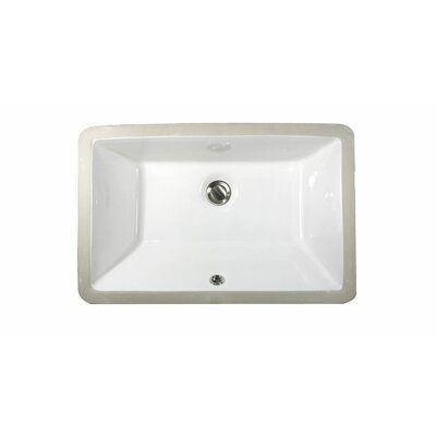 Rectangular Ceramic Undermount Bathroom Sink - UM-1911