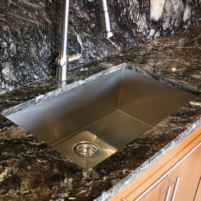 "Nantucket Sinks 32"" x 19"" Zero Radius Single Bowl Undermount Kitchen Sink"