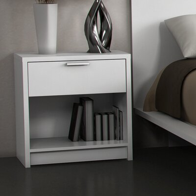 Stellar Home Eva 1 Drawer Nightstand