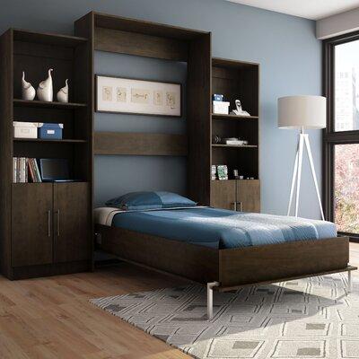 Stellar Home Furniture Milo Twin Storage Wall Bed