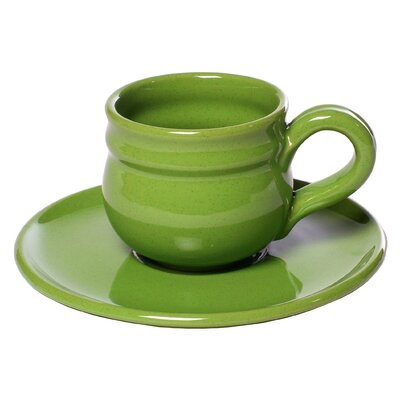 La Vita Vera Mamma Ro 14 oz. Breakfast Cup and Saucer