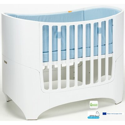 Leander Two Piece Crib Set in White Wash