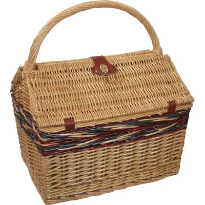 Farmhouse Picnic Basket in Blue Plaid
