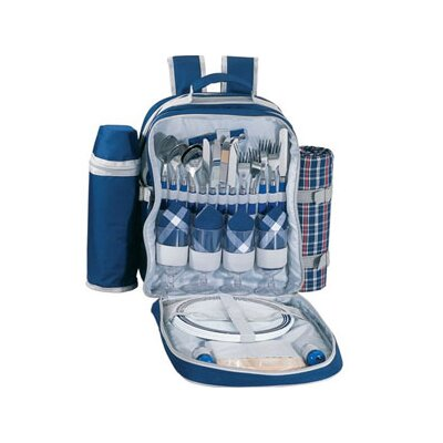 Valet Picnic Backpack in Blue