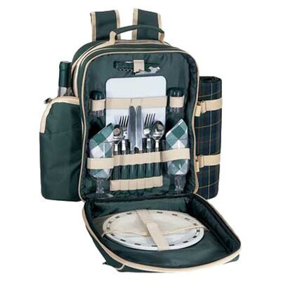 <strong>Sutherland Baskets</strong> Plymouth Picnic Backpack in Green