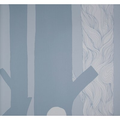 Marimekko Aarni Wallpaper in Grey by Maija Louekari