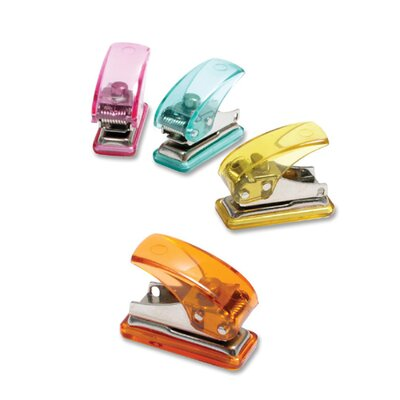 "Baumgartens Single Hole Punch, Mini, 3-1/2""x3""x2"", Assorted"