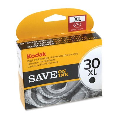 Kodak Ink Cartridge, 670 Page Yield, Black
