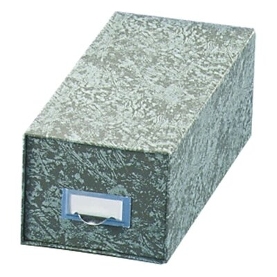 "Globe Weis Index Card Storage File, 14-1/2"" Deep, 4""x6"", Green"