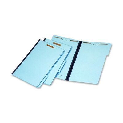 Globe Weis File Folders, 1/3 Cut Tab, 2 Fasteners, Legal, 25/BX, Blue