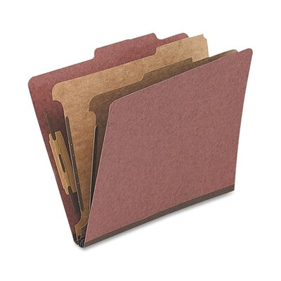 Globe Weis Classification Folder, 1 Partition, Legal, Red