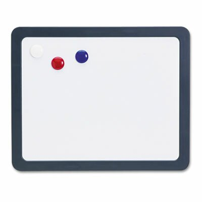 "Officemate International Corp Magnetic Dry Erase Board, 15.88"" W x 12.88""H x 1"" D, Slate Gray"