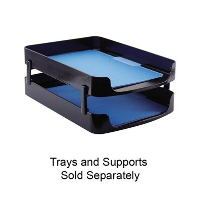 "Officemate International Corp Front Loading Letter Tray, 10-1/4""x13-5/8""x2"", Black"