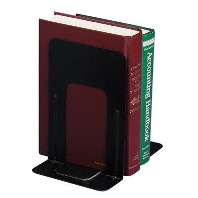"Officemate International Corp Standard Bookends, 5-7/8""x8-3/16""x9"", Black"