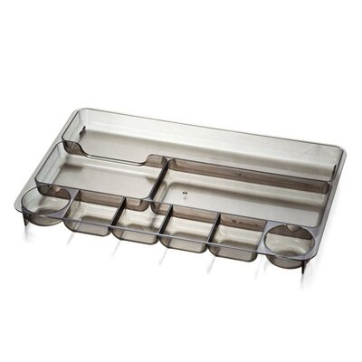"Officemate International Corp Drawer Tray, 9 Compartmentss, 14""x9""x1-1/8"", Smoke"