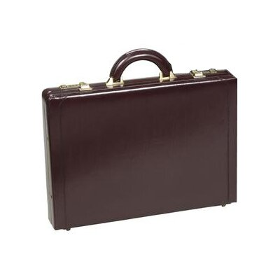 Executive Slim Leather Attache Case