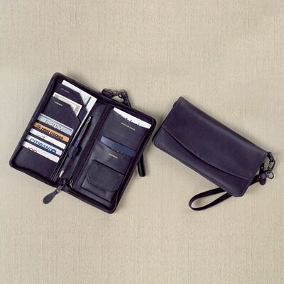 Winn International Cowhide Nappa Leather Travel Organizer