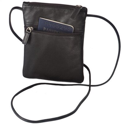 Winn International Harness Cowhide Leather Mini-Tote/Passport Holder