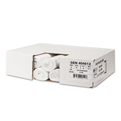 Whitehall Hi-Density Can Liners, 24 x 23, 6 mic, Clear, 20 Rolls of 50 Bags, 1000/Carton