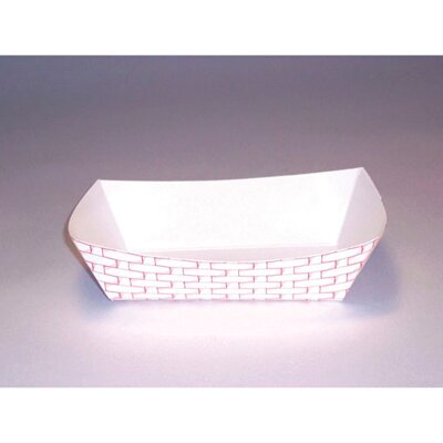Boardwalk 6 oz Paper Food Basket in Red and White