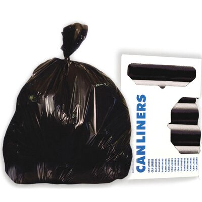 Boardwalk 56-Gallon High-Density Can Liner in Black