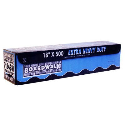 Boardwalk 500' Extra Heavy-Duty Aluminum Foil Roll in Silver