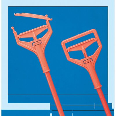 "Impact 64"" Janitor Style Screw Clamp Mop Handle Fiberglass in Safety Orange"