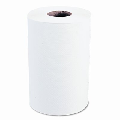Windsoft Nonperforated Paper Towel Roll, 8 x 350', Bleached White, 12/carton