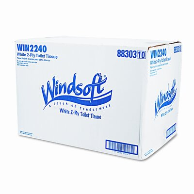 Windsoft Single Roll Bath Tissue, 96 Rolls/Carton