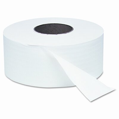 "Windsoft White Jumbo Roll One-Ply Bath Tissue, 8-3/4"" dia, 2000 ft, 12 Rolls per Case"
