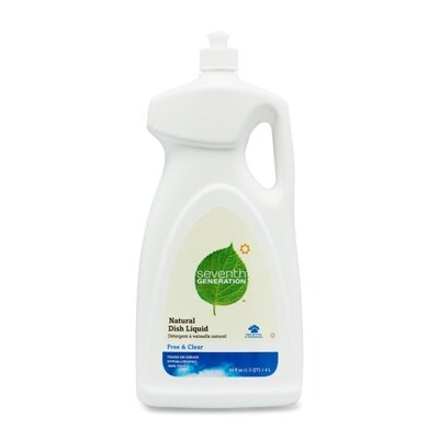 Seventh Generation Dishwashing Liquid, Natural, 48 Oz., Free/Clear