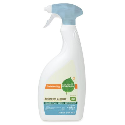 Seventh Generation Disinfecting Bathroom Cleaner, 26 oz. Trigger, Lemongrass