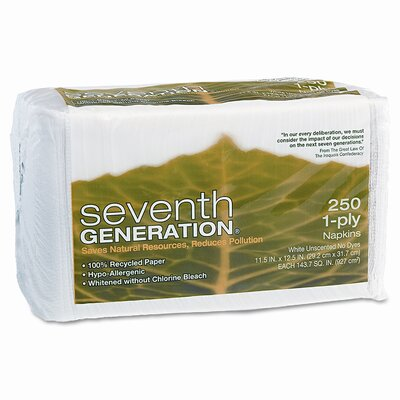 Seventh Generation Single-Ply Luncheon NaPackins, 250/Pack