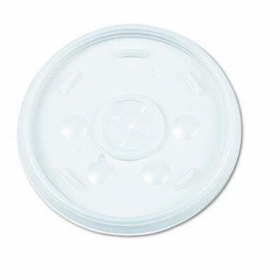 Dart Container Corp. Straw Slotted Plastic Lids in White for 32 oz Hot / Cold Foam Cups