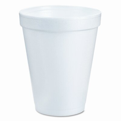 Dart Container Corp. Drink Foam Cups, Six Ounces, White, 40 Bags of 25 Per Carton