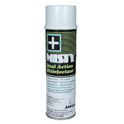 Misty Dual Action Disinfectant Fresh Linen Scent Liquid Aerosol Can
