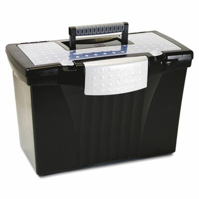 Storex Portable File Storage Box with Organizer Lid, Letter/Legal