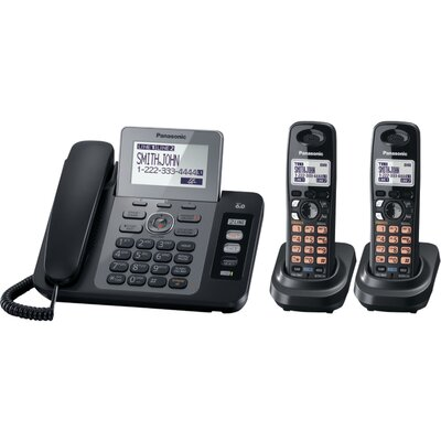 Dect 6.0 Two Line Corded/Cordless Phone System