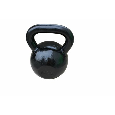 Sunny Health & Fitness 50 lbs Kettle Bell in Black