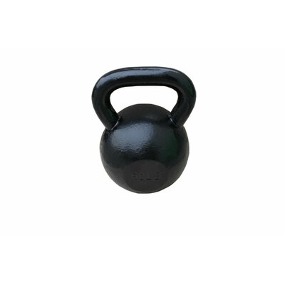 Sunny Health & Fitness 60 lbs Kettle Bell in Black