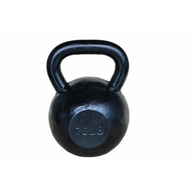 Sunny Health & Fitness 70 lbs Kettle Bell in Black