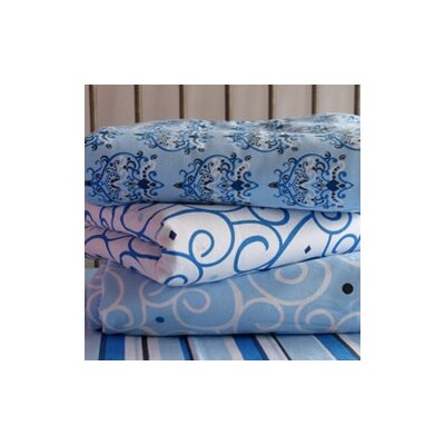 Caden Lane Luxe Blue Changing Pad Cover