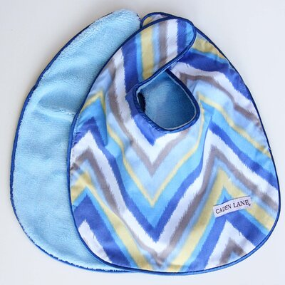 Caden Lane Ikat Chevron Bib Set (Set of 2)