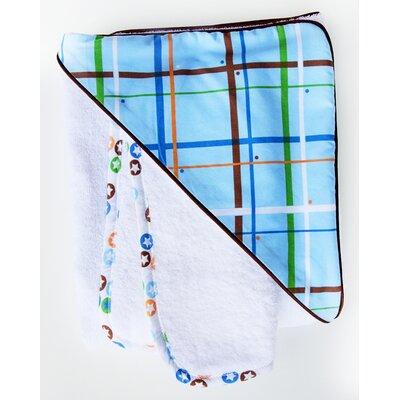Caden Lane Boutique Plaid Hooded Towel Set