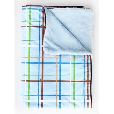 Caden Lane Boutique Plaid Piped Blanket