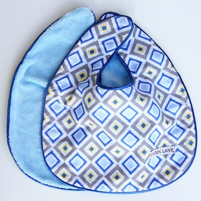 Caden Lane Ikat Diamond Bib Set (Set of 2)