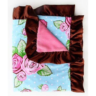 Caden Lane Boutique Rose Dot Ruffle Blanket
