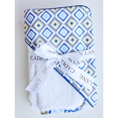 Caden Lane Ikat Diamond Hooded Towel Set