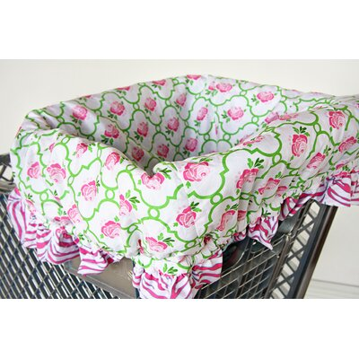 Caden Lane Boutique Rose Dot Shopping Cart Cover