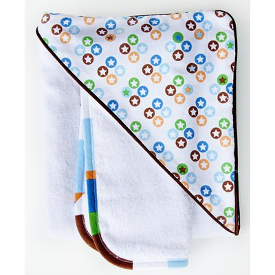 Caden Lane Boutique Star Dot Hooded Towel Set